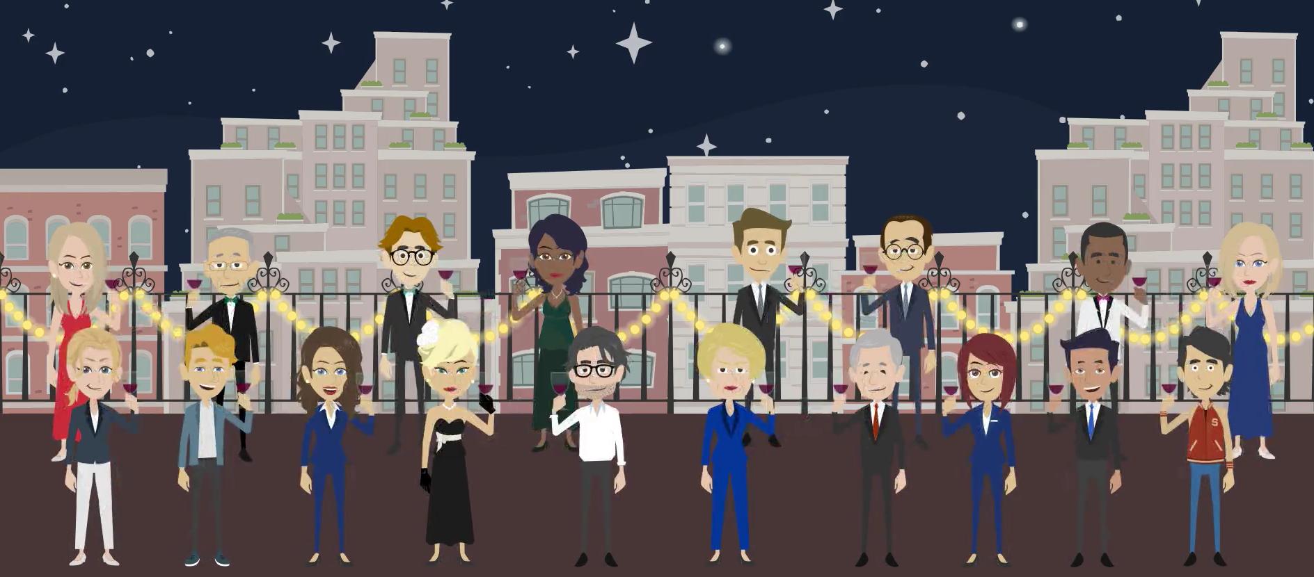Animation video as an original Christmas message