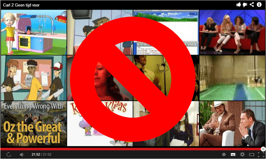 Stop videosuggesties