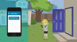 2D Cartoon animatievideo Approxx Flexxapp Covid-19 - EVA Explainer Video Agency