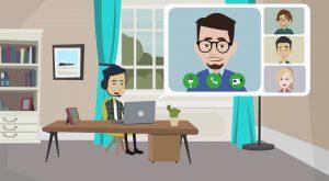 2D Cartoon animatievideo Chimp Company - EVA Explainer Video Agency