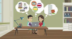 2D Cartoon animatievideo NVM Voorberg Makelaars - EVA Explainer Video Agency