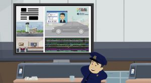 2D Cartoon animatievideo Videoguard - EVA Explainer Video Agency