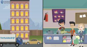 2D Cartoon animatievideo Vindbaar Vastgoed - EVA Explainer Video Agency