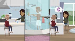 2D Cartoon animatievideo Werk en Mantelzorg 2 - EVA Explainer Video Agency